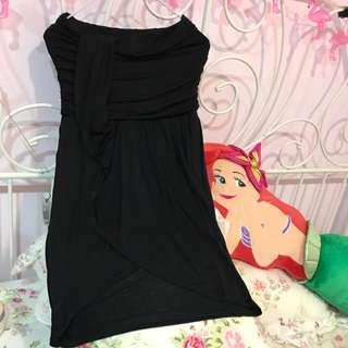 平口黑洋裝 ZARA