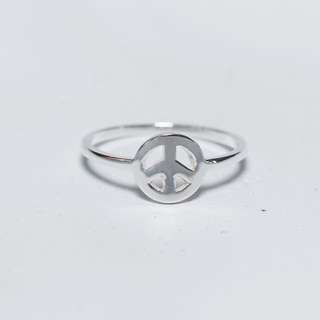 Sterling Silver Karen Walker Peace Ring