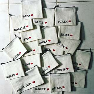 CUSTOMIZED PURSE AND POUCHES