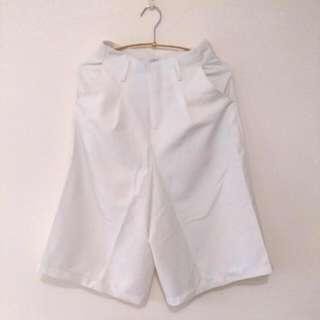 和平 白色寬褲