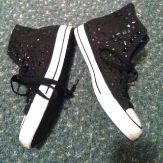 Embellished Chuck Taylors 8'