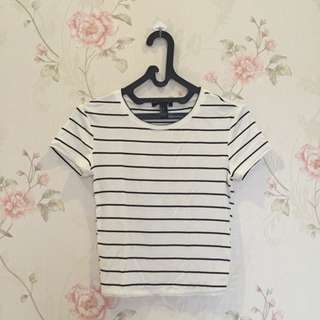 F21 Stripe Crop Top