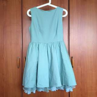 Preloved Mint Teal Bridesmaid Ruffles Dress