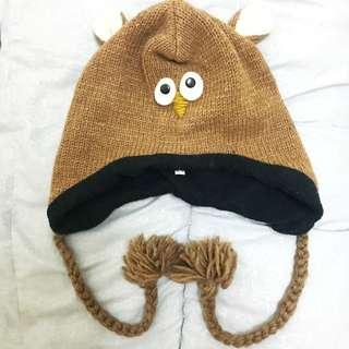 尼泊爾純羊毛毛帽