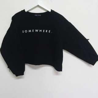 韓國短版內刷毛長袖上衣
