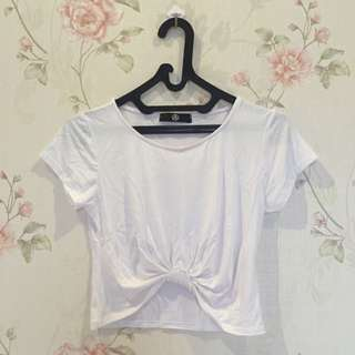 Missguided Front Knot Crop Top