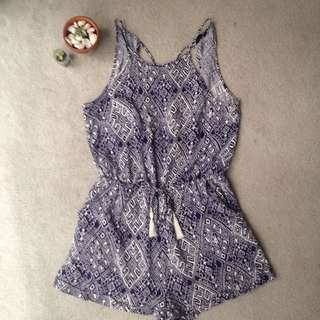 JayJays Open Back Navy Playsuit (Size 12)