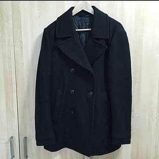 Uniqlo羊毛長版大衣外套