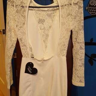 Brand New White Lace Dress Size 6/8