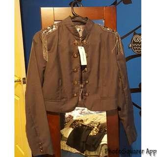 Grey Military Style Jacket BNWT