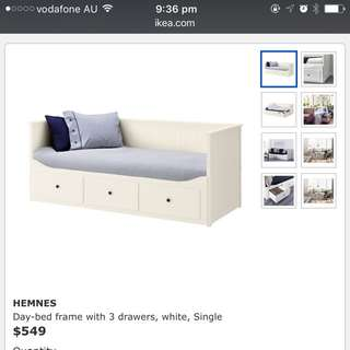 Single Bed With Drawer ( Chocolate Colour) Similar As The Photo