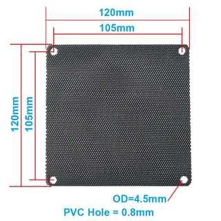 pvc pc chassis DIY 12cm mesh fan filter Bundle of 4 Minimum Buy.
