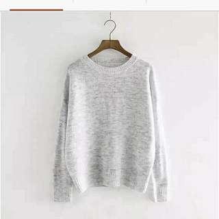 (洽中)灰色毛衣 M號