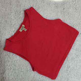 Bershka Red Crop Top