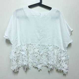Pazzo白色花朵上衣