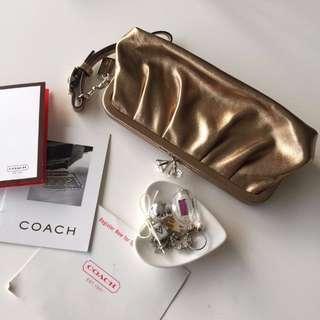 #我有正品名牌包要賣。COACH金采絢爛晚宴包