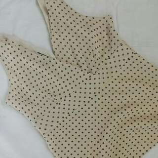 Repriced 🌸 Polka Sleeveless Top