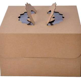 Tall Kraft Paper Cake Boxes, 8in, 10in, 12in available