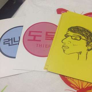 Running Man Thief Card Set