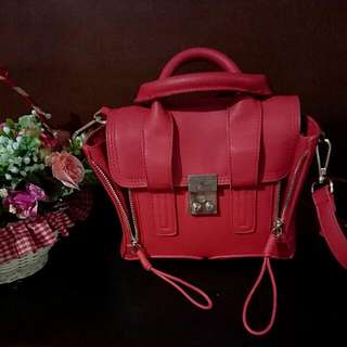 Hot Red Double Zipped Bag