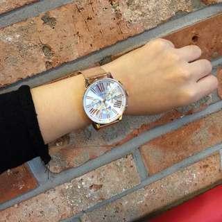 正韓 玫瑰金手錶
