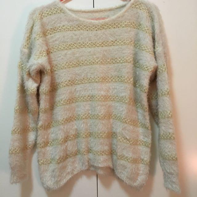 金蔥橫條毛衣