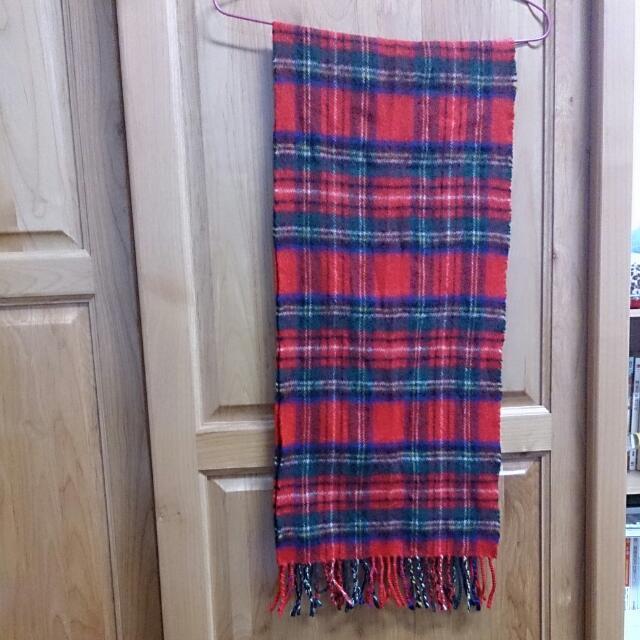 紅綠色格子圍巾