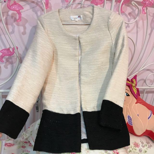 香奈兒風長版外套