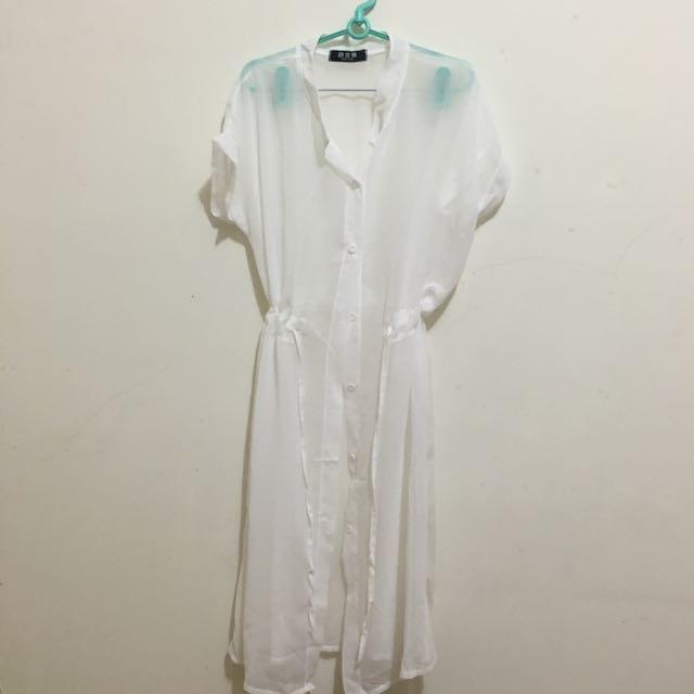 (全新)長板薄透罩衫