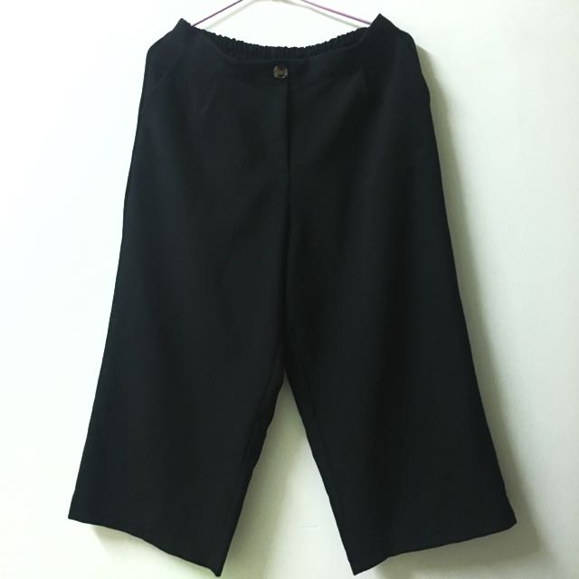 褲頭伸縮寬褲