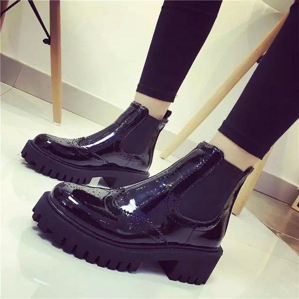 歐美平底騎士厚底女靴