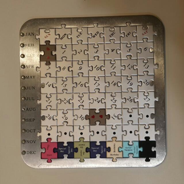 設計感 軟磁鐵拼圖日曆
