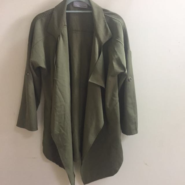 軍綠 韓版 外套