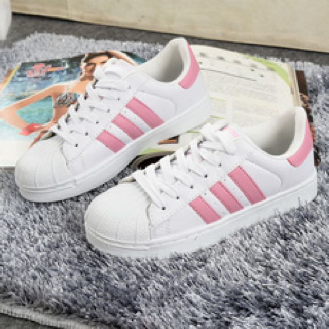 Adidas Superstar (Pink Stripe)