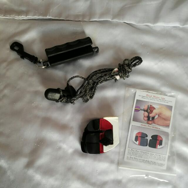 Archery Items: Arrow Puller, Bow Stringer, Small Right Handed Tab W Anchor Pad