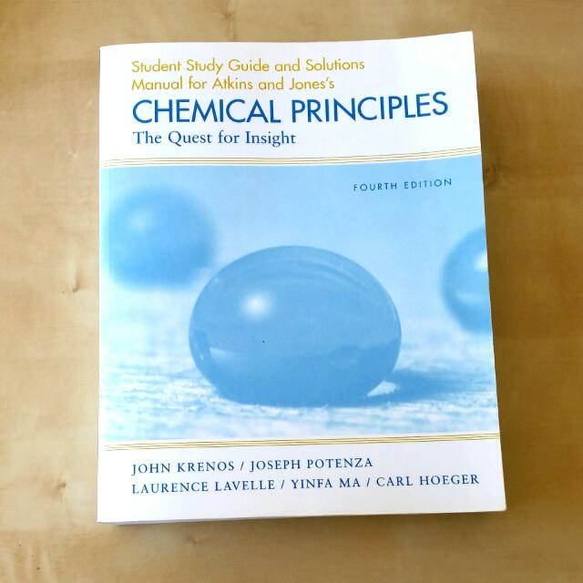 Atkin's And Jones's Chemical Principles 4th Edition Student Study Guide And Solutions Manual