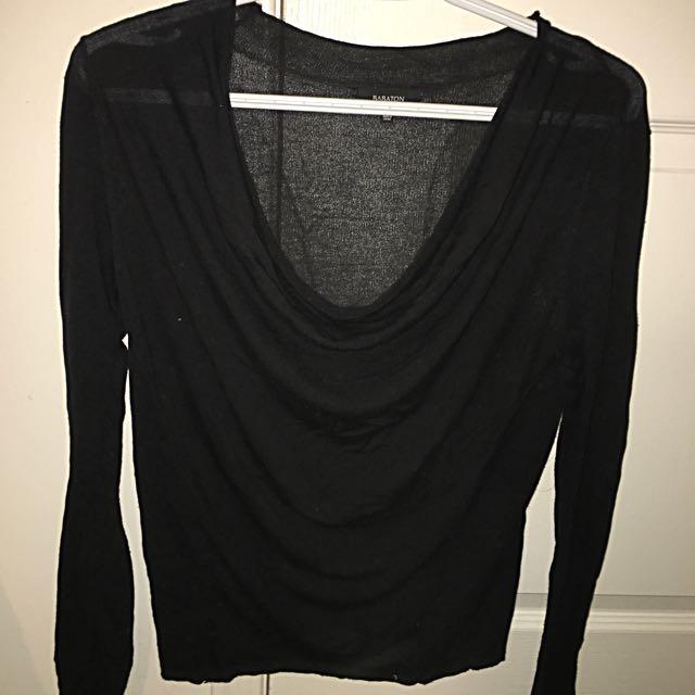 Babaton (Aritzia) Scoop Long Sleeve Shirt