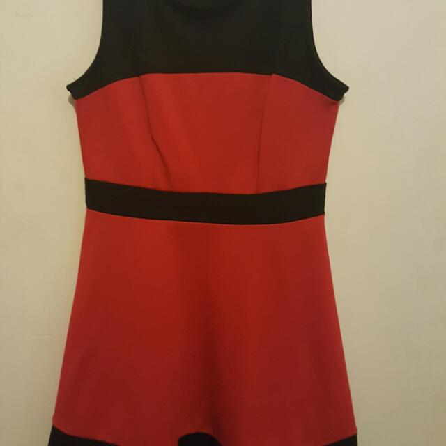 Black Red Mini Formal Dress Sizs 10