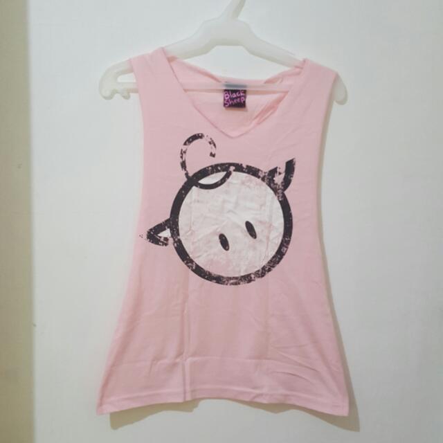 Black Sheep Baby Pink Muscle Tee