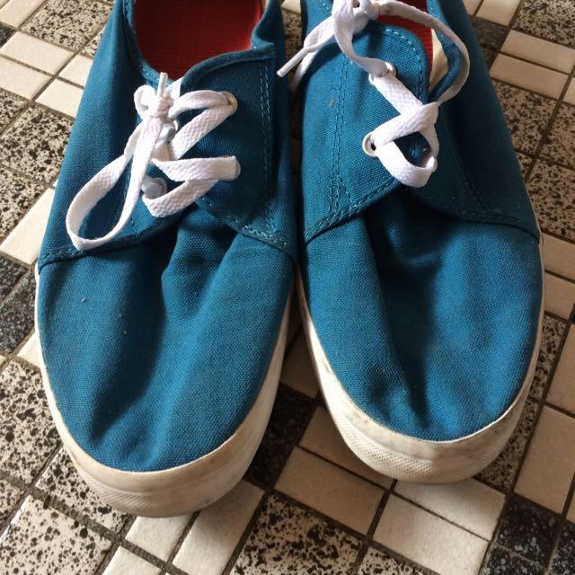 Blue Color Converse Shoes New U.K 10
