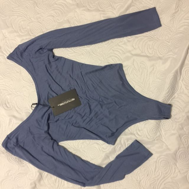 Bnwt Blue Bodysuit