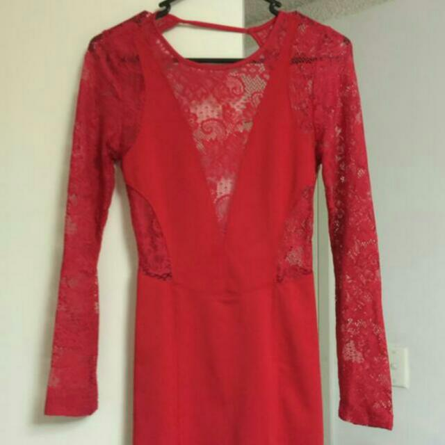 Brand New Lace Red Dress Size 6/8