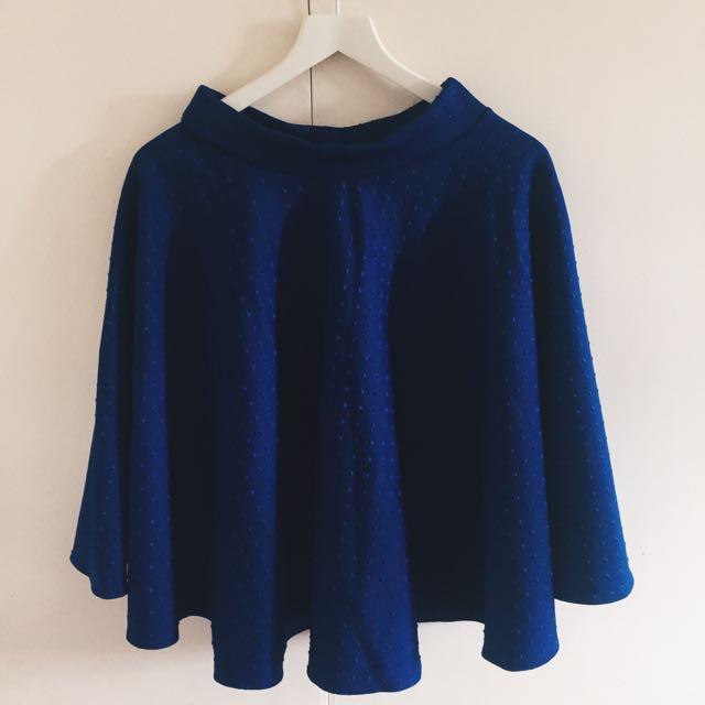 Brand New Midi Blue Skirt