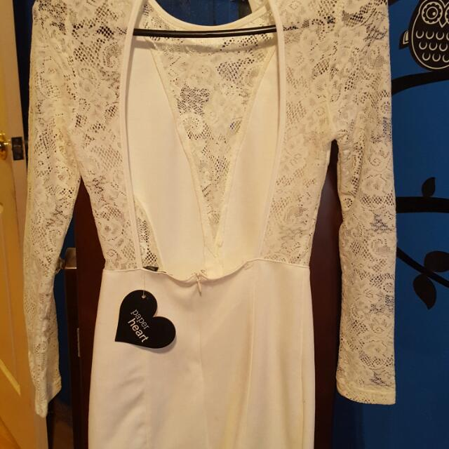 Brand New White Lace Dress Size 6/8