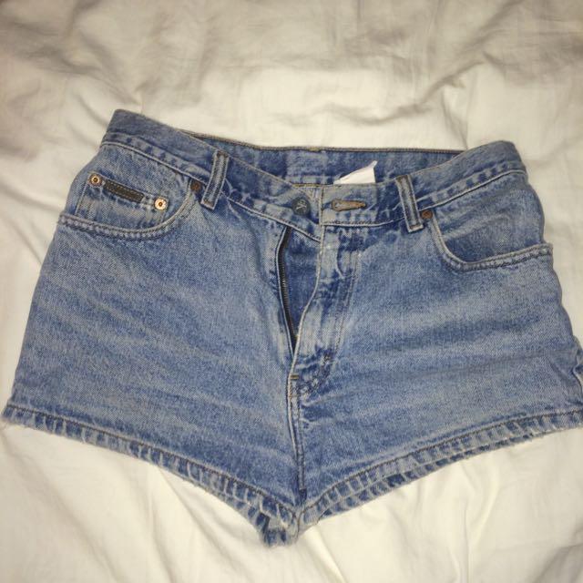 Calvin Klein Vintage High Wasted Jean Shorts