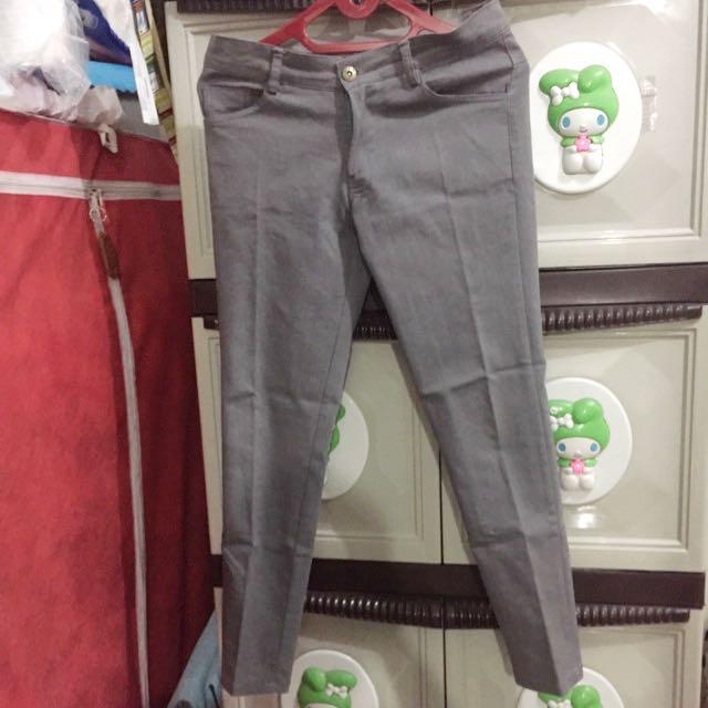 Celana panjang semijeans - Grey Abu