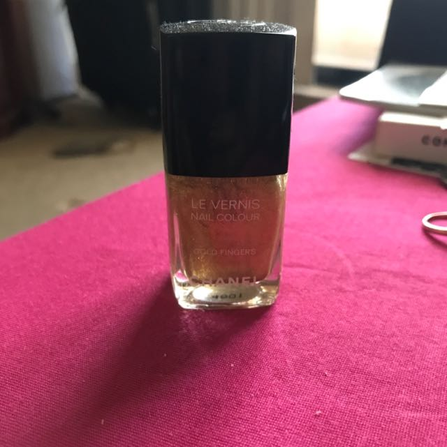Chanel Gold Nail Polish - New!