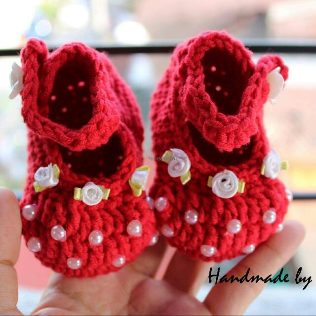Crochet Red Shoes