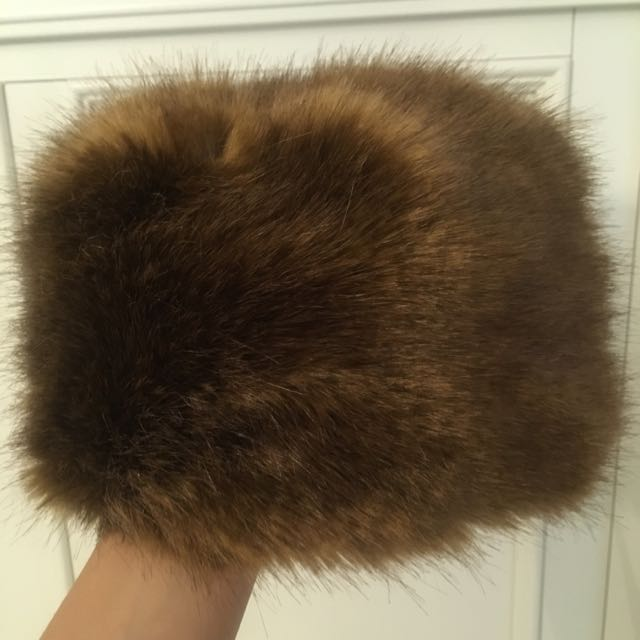 Danier Furry Hat. Size Small