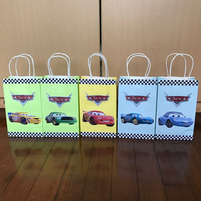 Disney Cars Handmade Paper Bag/ Party Bag/ Goodie Bag